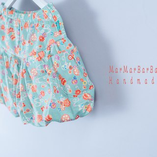Balloon pants - flowing water, small flowers, young children, children's wear, children