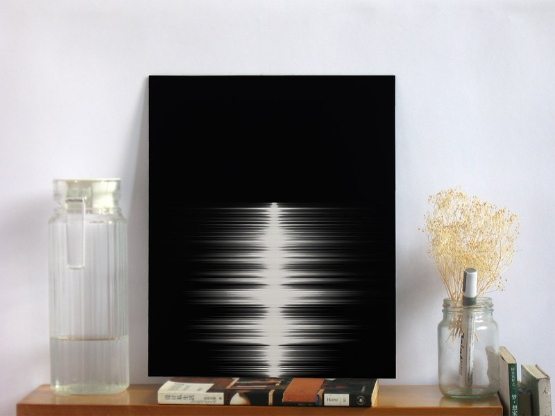 Moonlight and Sea Audio Decorative Painting - Birthday Christmas Gift - 11x14""