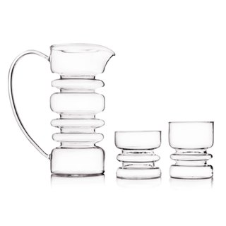 [Milan Hand-blown Glass]Rings Spiral Cup/Kettle