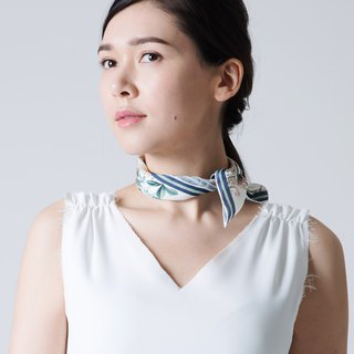 PARADISE NECK SCARF - CREAM WHITE