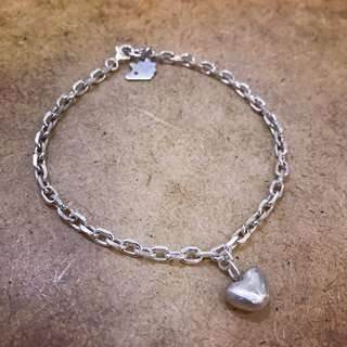 Heart & The Elegance of the Hedgehog 925 Handmade Silver Bracelet