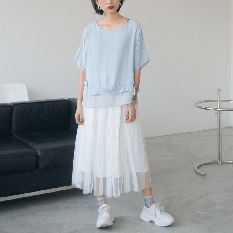 Kusto's own vertical striped skirt and skirt in two colors