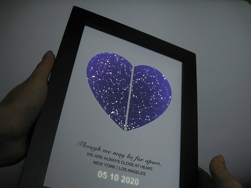 Customized starry night light can be timed and dimmed to accompany mom to sleep bedside lamp birthday mother's day gift