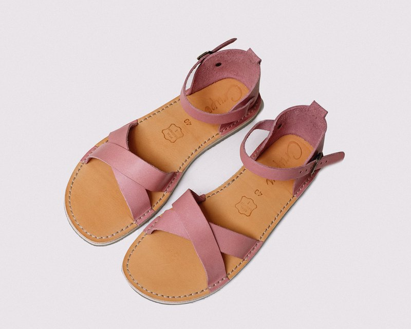 Pink Sandals, Summer Leather Sandals, Women Sandals, Summer Shoes