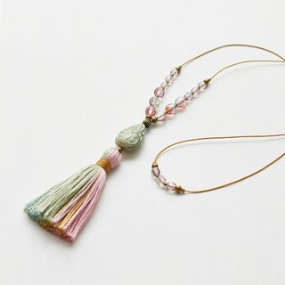 Tassel Necklace/pink