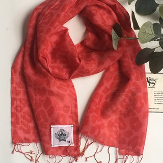 Summer Scarf  leopard printed cashmere gauze