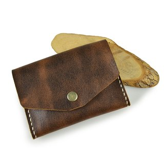 (U6.JP6 handmade leather) pure natural handmade imported leather hand-made leather sewing. Compact wallets for men and women