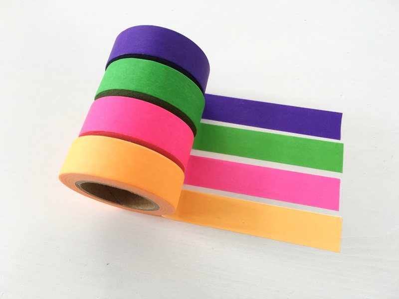 Neon Washi Tape Set of 4