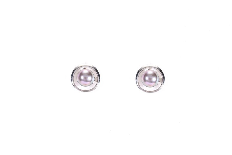 Dark Collection--Dark Pearl S925 Silver Earrings 01