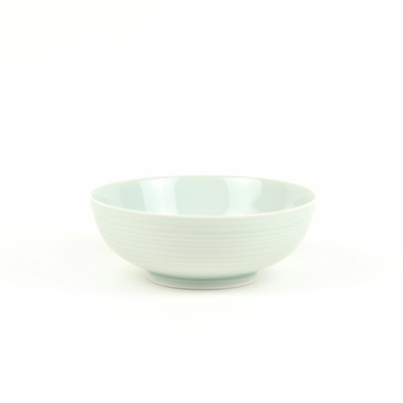 KIHARA White Morning Glaze Shallow Bowl M