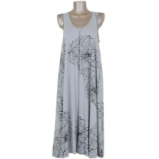 Hibiscus print Sleeveless Dress <gray>