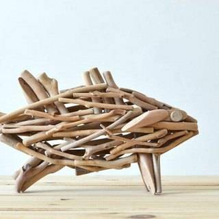 Handmade wooden creative fish ornaments