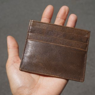 Sienna leather card holder (can be simple wallet)