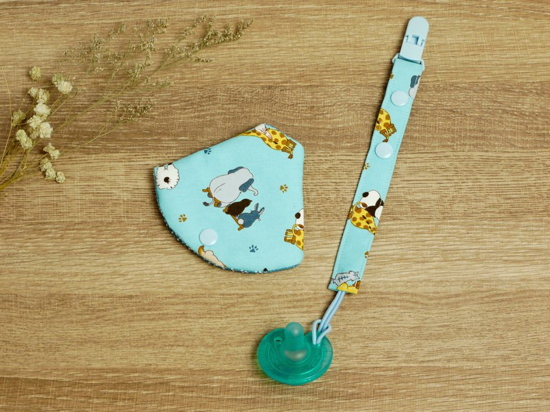 Two-in-one pacifier clip │ pacifier dust cover + pacifier chain::: animals without face