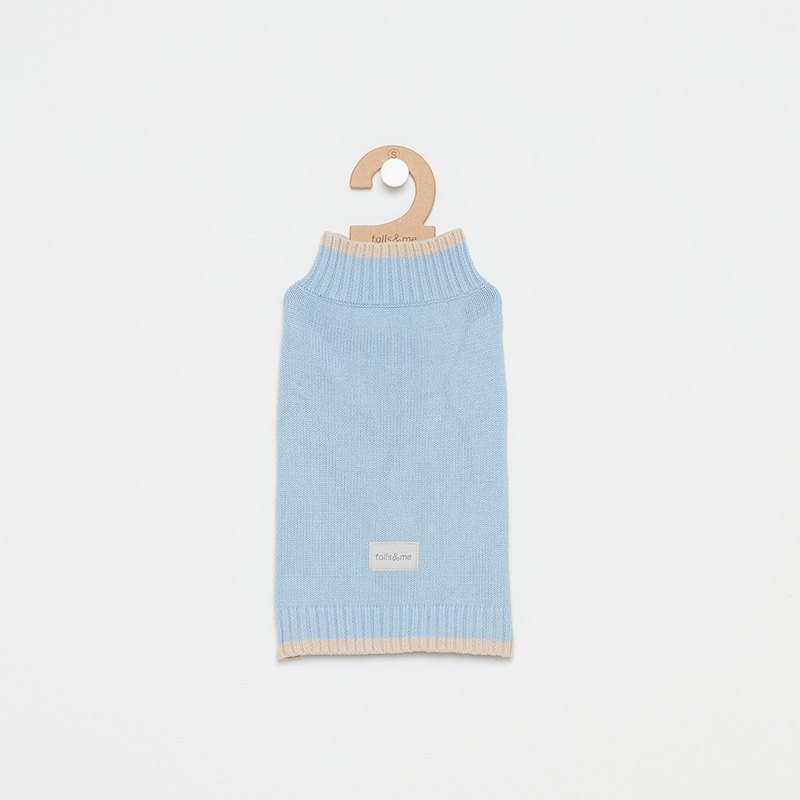 [Tail and me] pet clothes fine contrast color sweater blue