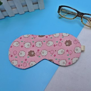 Pink Cotton Sheep Adjustable Sleep Goggles with Stowage Storage Bag sleep mask*SK*