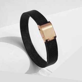 Stainless Steel Mesh Bracelet | Black