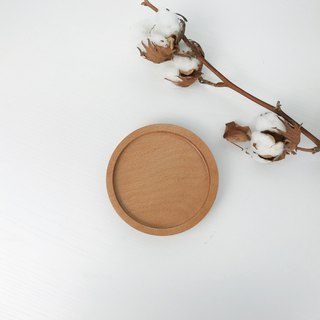Elm - Rounded Disc Coaster