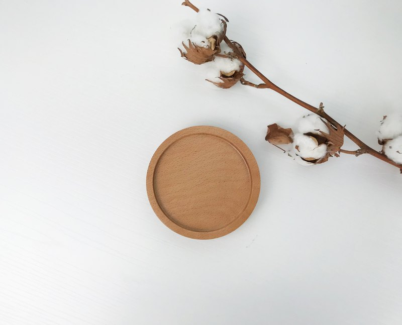 Beech-Rounded Round Coaster / Gift