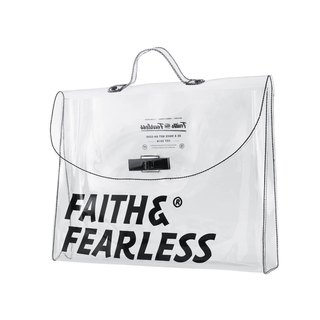 Faith & Fearless PVC FOLDER WHITE Briefcase