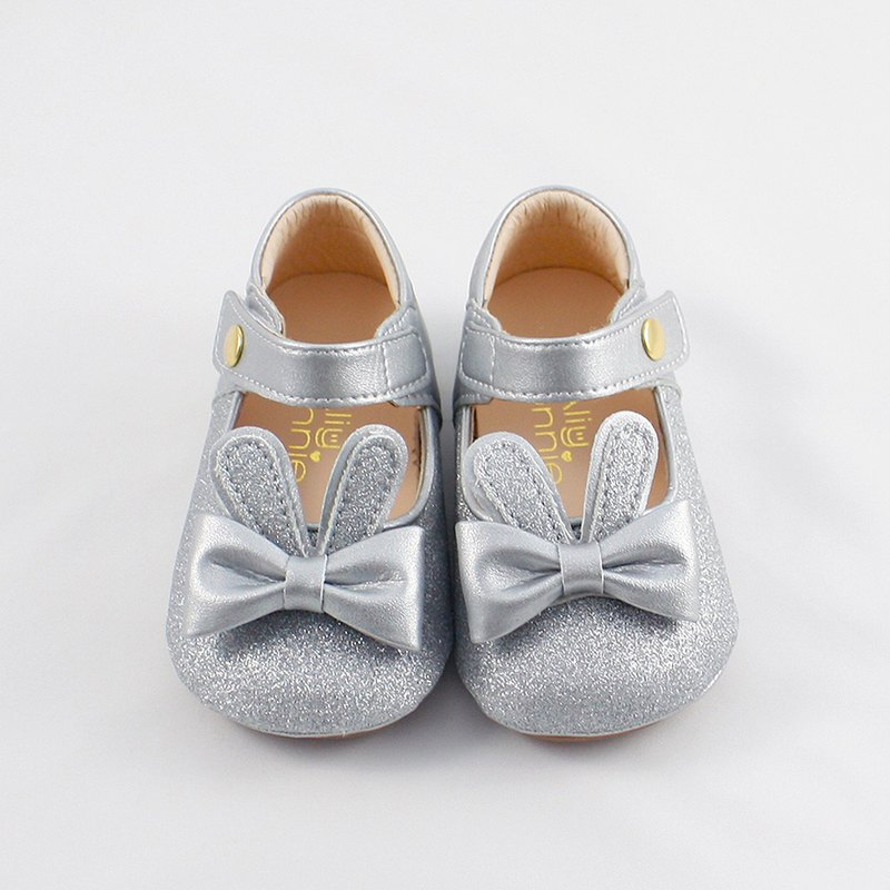 Bunny Jumping Baby Shoes - Jumping Silver