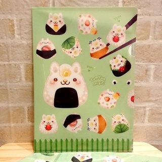 A4 Folder - Rice Ball Rabbit