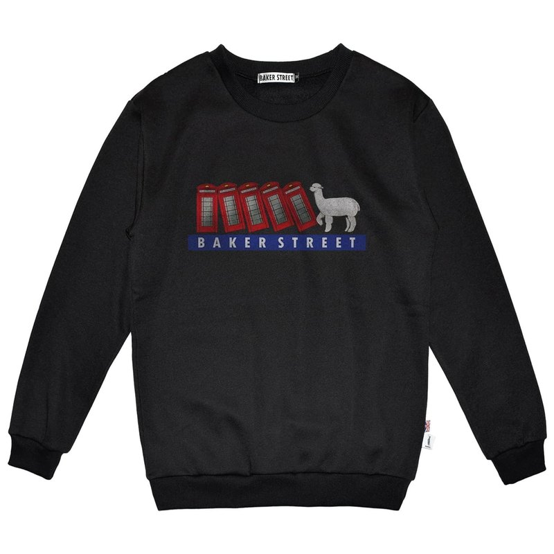 British Fashion Brand -Baker Street- Domino Printed Sweatshirt