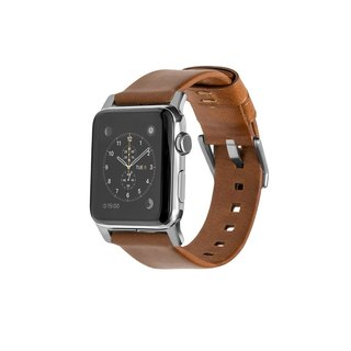 American NOMADxHORWEEN Apple Watch Leather Strap - Modern Silver (42mm)