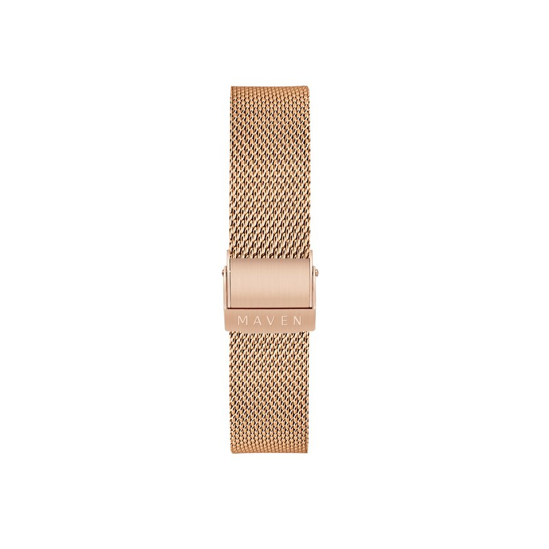 16mm rose gold stainless steel mesh belt easy to remove the strap function MAVEN watch