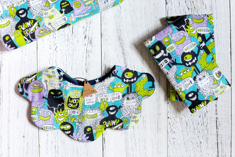 FUNNY MONSTER BIB / or BABY SET