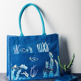 Crowed Ocean KK Jute Bag