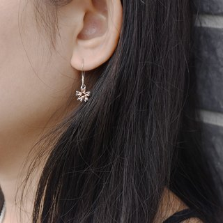Sakura (Purple Silver Plated Rose Gold/White K Earrings Silver Valentine's Day Gift) ::C% Handmade Jewelry::