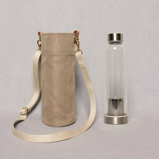 Kettle bag beverage bag mug bag wine bag - desert color / shoulder