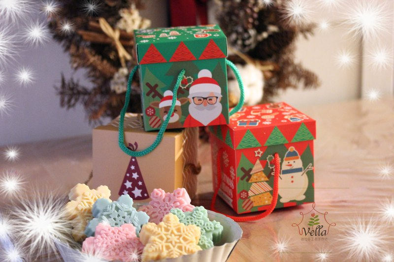 [Vela Handmade] Christmas Exchange Gift | Fragrance Soap Snowflake 3 into the gift box