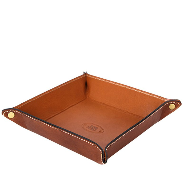 Leather square storage box