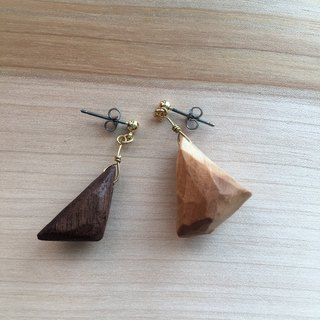 touch of wood pierced earrings