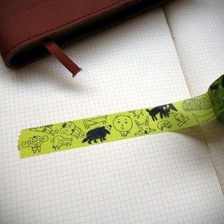 CHUMIO X Takasada | illustrator series paper tape _ Dog Dog