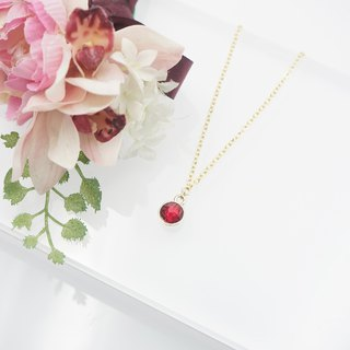 Swarovski Crystal Necklace (Color: Red)