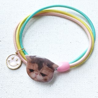 Exotic Cat Jojo  Handmade 2 ways Rainbow Elastic  & Bracelet