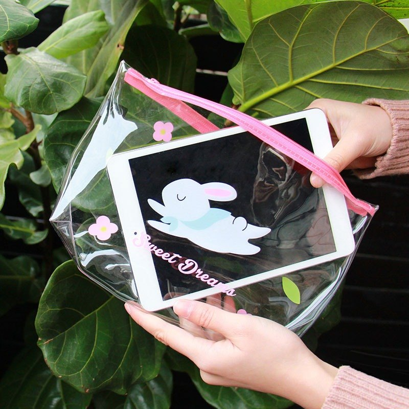 UPICK original product life illustration transparent pvc pouch storage bag Storage Bag Cosmetic Travel Goods