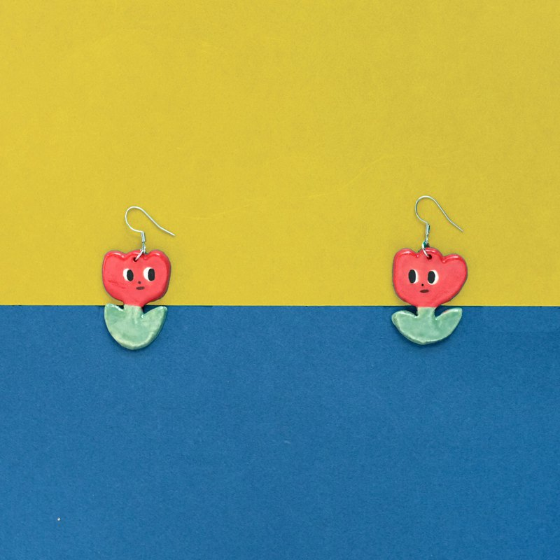 Good neighbor flower earrings