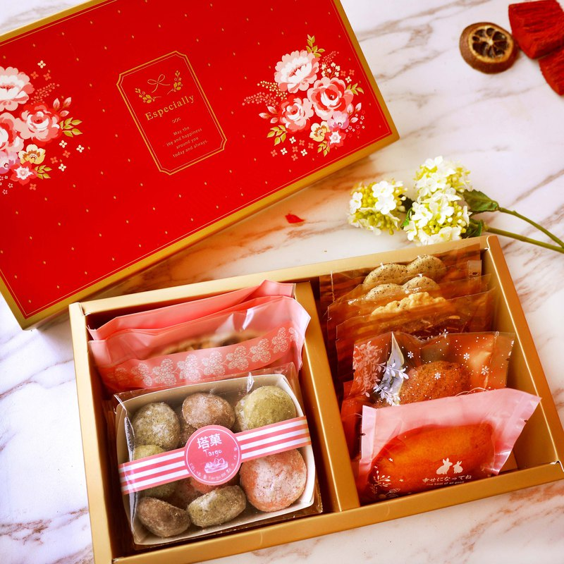 [Tower Fruit] Rich Flower Blossom - Handmade Dessert Gift Box (Festival Gifts / Mother's Day / Gifts / Spring Festival)