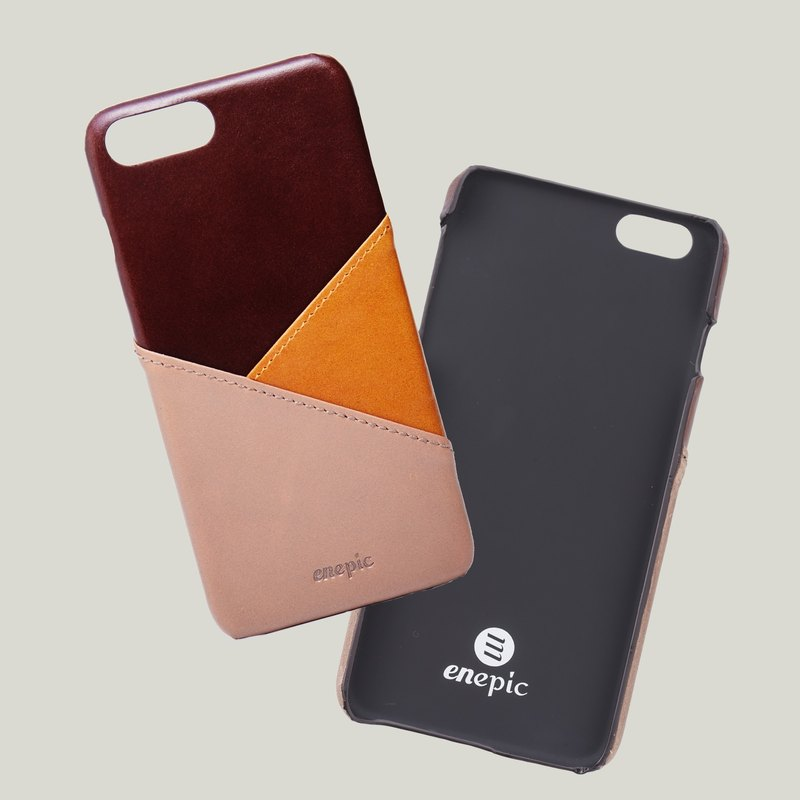 Leather back cover|Baileys 百利‧iPhone 6/6s/7/8 plus-coffee [add purchase lettering]