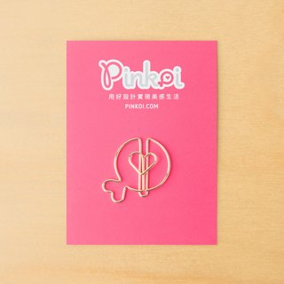 Pinkoi Logo Paperclips (Gold) - Pack of 5