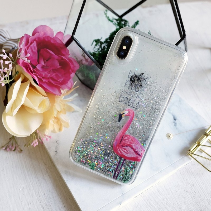 PATTERN LAB | Liquid Glitter Case for iPhone X - Flamimgo