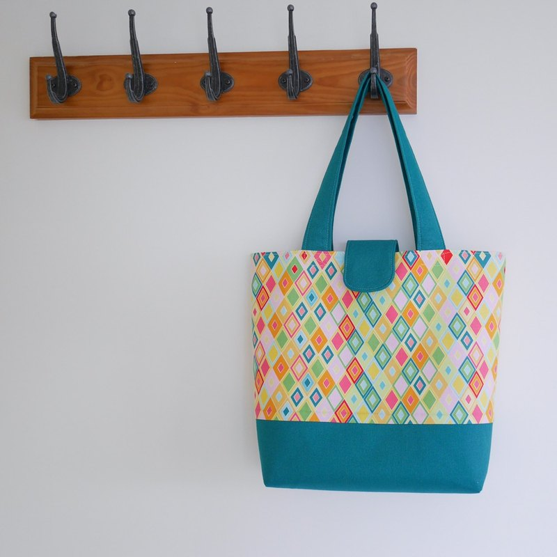 Tote bag - colorful diamonds