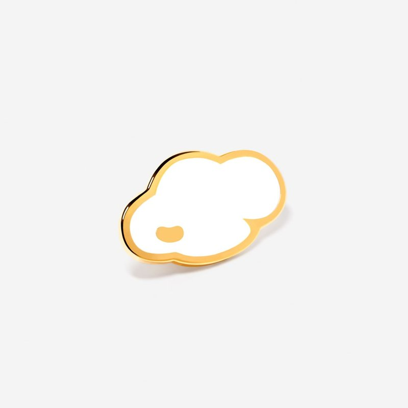 Cloud: Marshmallow White Lapel Hat Pin