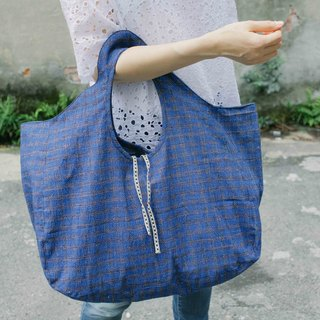 Brut Cake handmade old fabric -dumpling bag (3) , special design tote bag,  inside out reversible, large capacity for grocery shopping or traveling