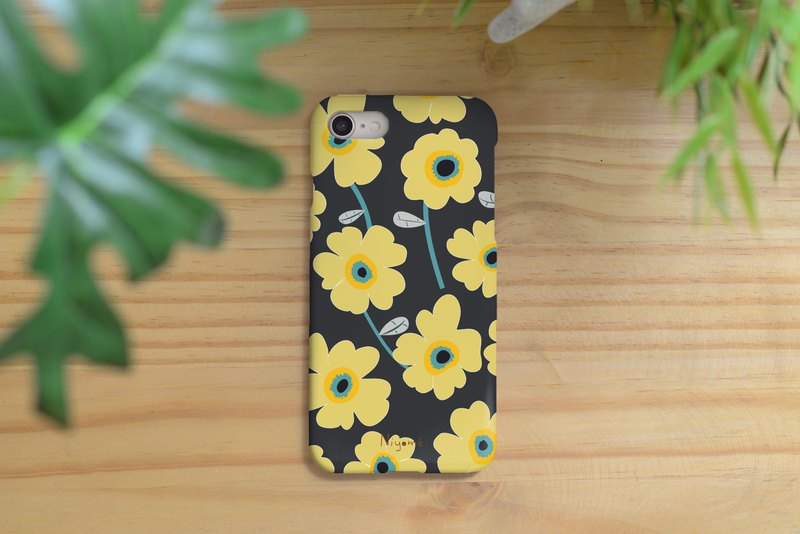 iphone case yellow flower pattern for iphone5s,6s,6s plus, 7,7+, 8, 8+,iphone x