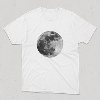 Secret Lunar Mysterious Moon Thick and Short T